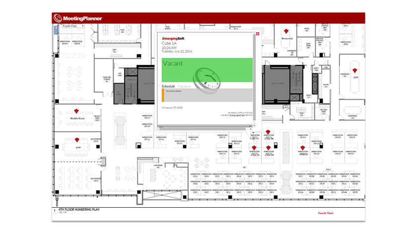 Book Rooms with the MeetingPlanner Interactive FloorPlanner
